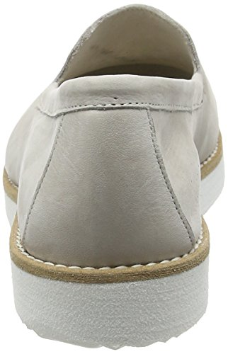 Fred de la Bretoniere Fred Step In Shoe White Sole Vigo - Mocasines Mujer Grau (Asfalto)