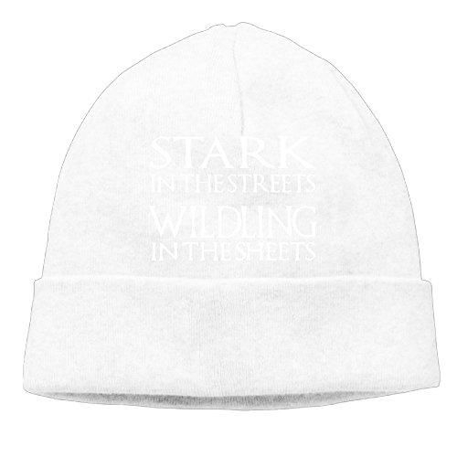 Stark In The Streets Wildling In The Sheets Men's Skull Cap Insulated Screen-Print Limited Woolen Cap