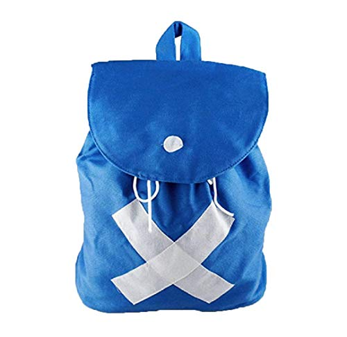 Anime One Piece Tony Chopper Blue Canvas Backpack Cosplay Shoulder School (One Piece Cosplay Accessories)