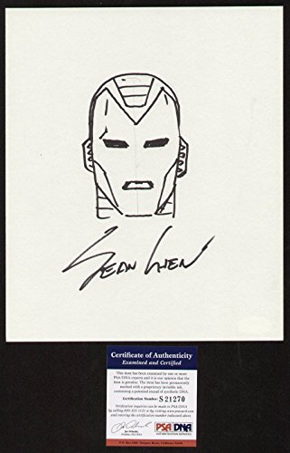 Sean Chen signed autograph auto Original Iron Man Artwork / Sketch PSA/DNA