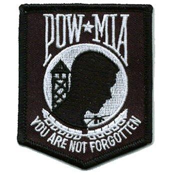 POW MIA iron-on embroidered patch