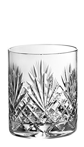 Barski - Set of 4 - Hand Cut - Mouth Blown - Crystal - DOF - Double Old Fashioned Tumblers - 14oz. - Made in Europe - Set of 4 ()
