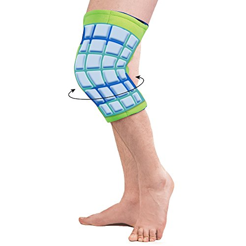 Polar Ice Large Knee Wrap Cold Therapy Wearable Ice Pack Adjustable Hook and Loop Closure (Color May Vary) by Brownmed (Image #2)