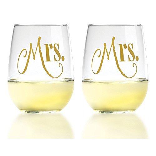 mrs and mRs wine glasses