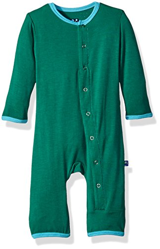 KicKee Pants Baby Boys' Solid Coverall Prd-kpca212-Sgci, Shady Glade With Confetti, 0-3 Months - Kickee Pants Coveralls