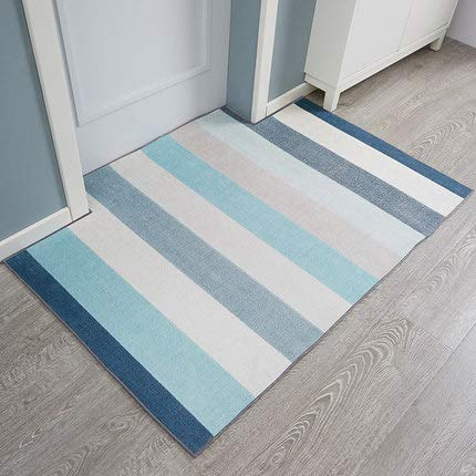 blueeB 80x120cm(31x47inch) Doormat,Entrance Carpet Doormat Anti-skidding Geometric Patterned-blueeb 80x120cm(31x47inch)