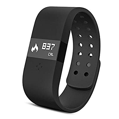 Tronfy® ERI Bluetooth 4.0 Fitness Activity Tracker Bracelet & Sleep Monitor Smart Wristband w/LED Touch Screen Waterproof IP67 Thermometer Measuring Heart Rate for Andriod & iOS