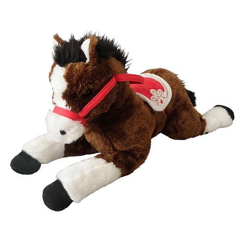 Toys R Us Plush 20 Inch Lying Horse - Brown