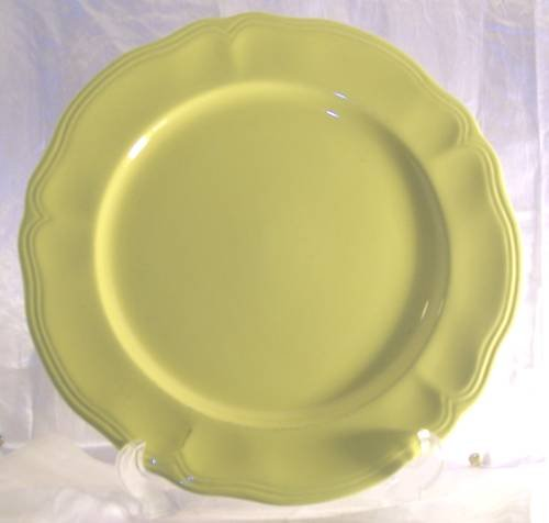 """Sears Federalist Buttercup Ironstone 12"""" Serving Plate"""