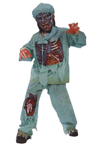 [Zombie Doctor Child Costume (Medium)] (Kids Zombie Doctor Costumes)