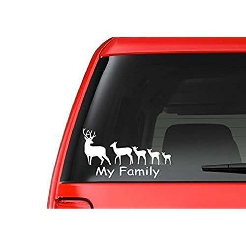 Deer Car Decals Amazoncom - Rear window hunting decals for trucksamazoncom truck suv whitetail deer hunting rear window graphic