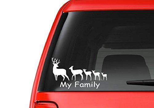 deer family window decal - 4