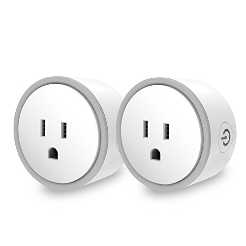 Price comparison product image Elf Smart Plug by Eques - No Hub Required - Control Your Home from Anywhere - Compatible with Amazon Alexa & Google Home - WiFi App Enabled - UL FCC Certified - Fireproof Material (2, Gray)