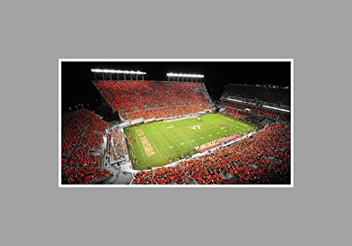 (Virginia Tech Hokies - College Football Stadium - 36x20 Matte Poster Print Wall Art TOC)