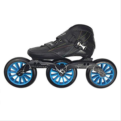 dingwen Speed Inline Skates 3125mm Wheels Patines Roller Skates Zico Professional Racing Skating Skates for Kids Adult SH52 44 Black 125mm Wheels