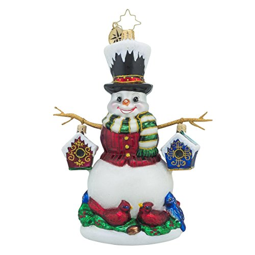 Christopher Radko Chirp-n-Chilly Snowman Christmas Ornament