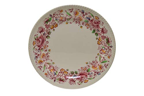 Copeland Spode Aster Red Round Platter Serving Plate 12.5