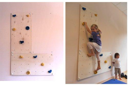 Parete Scalata Bambini : Parete da arrampicata per uso interno iw2 in casa e in stanzetta da