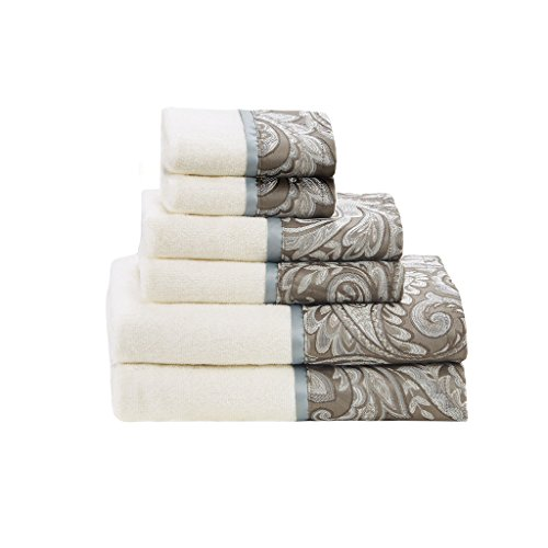 - Madison Park Aubrey Towel Set, Blue