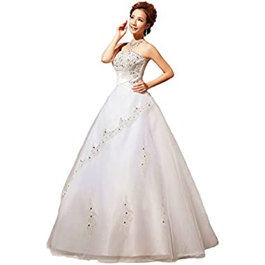 YACUN Strapless Lace Beading Wedding Dress Bride Wedding Gown Custom Size HS80-8