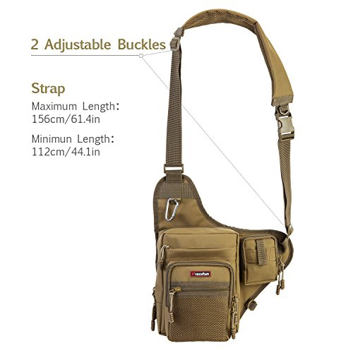 Piscifun Sports Shoulder Bag Fishing Tackle Bag Crossbody