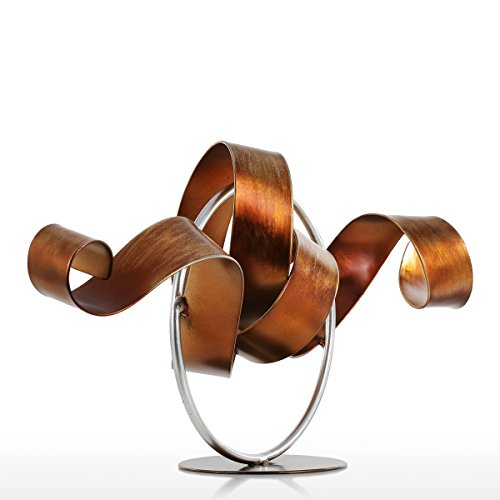 Sculpture Metal Modern - Tooarts Wiggle Metal Modern Sculpture Iron art Figurine Ornament Home Decor