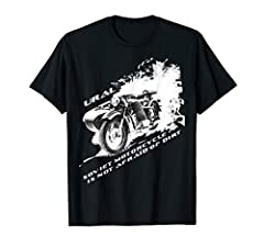 This is a t-shirt for lovers of Soviet heavy motorcycles with a sidecar. This unique T-shirt will delight a true connoisseur of the classic Ural motorcycle.