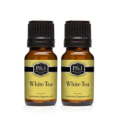 White Tea Fragrance - White Tea Fragrance Oil - Premium Grade Scented Oil - 10ml - 2-Pack