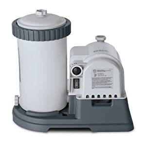 Intex 28633EG Krystal Clear Cartridge Filter Pump for Above Ground Pools, 2500 GPH Pump Flow Rate, 110-120V with GFCI