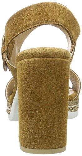 Peperosa 6604 - Sandalias con cuña Mujer marrón (Cola)