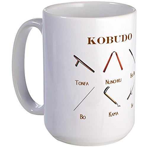 CafePress - Kobudo Weapons - Coffee Mug, Large 15 oz. White Coffee Cup