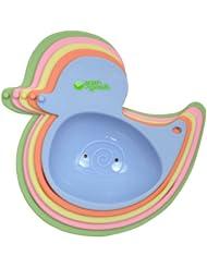 美国green sprouts Stacking Duck Set婴幼儿小鸭叠叠乐安全洗澡玩具5件套$8.84
