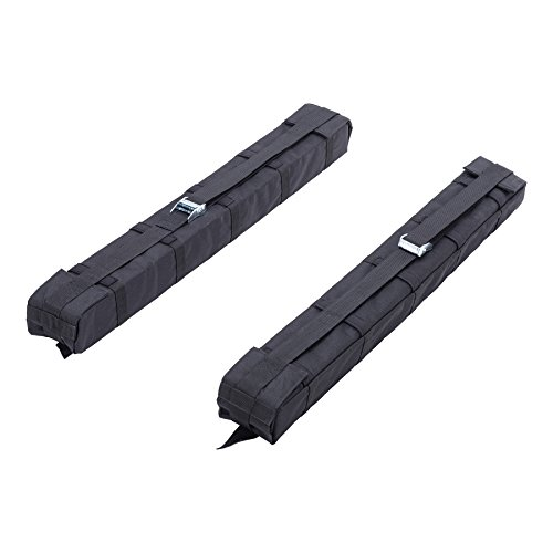 OrionMotorTech Universal Car Soft Roof Rack Luggage Carrier Surfboard Paddleboard Anti-vibration w/Adjustable and Heavy Duty Straps