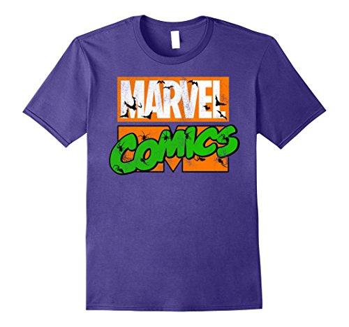 Marvel+Comics+Retro+Shirt Products : Marvel Comics Haunted Retro Logo Bats & Spiders T-Shirt
