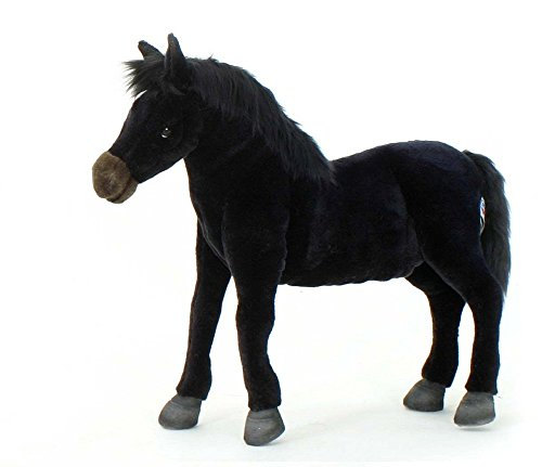 Hansa Wildfire Horse Plush, Black