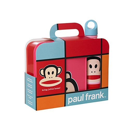 Paul Frank Lunch Set Lunch Box Drinking Bottle and Cup, Food Container, Box, Bottle, Pink, RCF20350002 -
