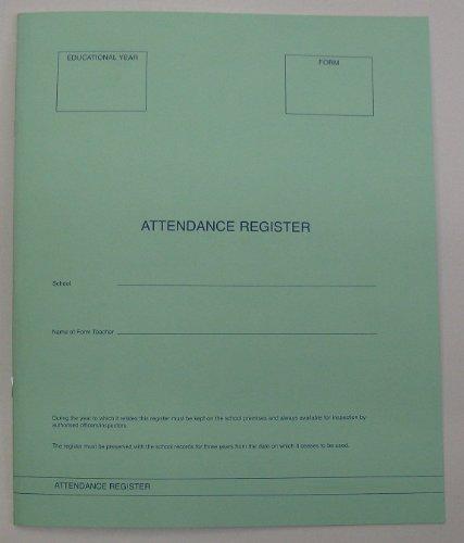 School Class Attendance Register Book