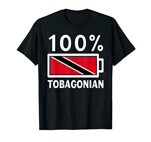 (Trinidad & Tobago Flag Shirt   100% Tobagonian Battery Power)