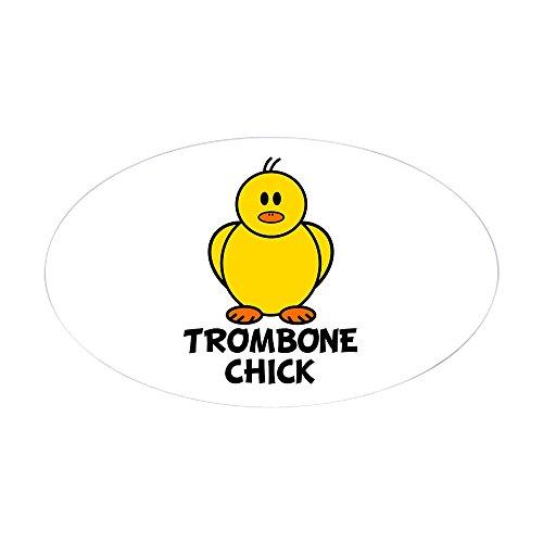 CafePress - Trombone Chick Oval Sticker - Oval Bumper Sticker, Euro Oval Car (Trombone Chick)
