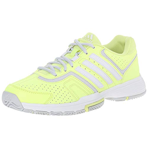 adidas Performance Women's Barricade Court W Tennis Shoe, White/Copper/Solar Red, 11.5 M US