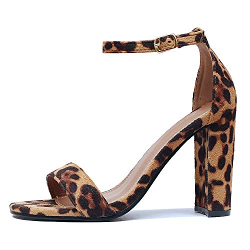 Guilty Shoes - Shirley-1 Leopard Suede, 5.5 -