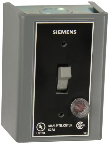Siemens MMSKGJ1A Fractional HP Switch, Single and 3 Phase, NEMA Type 1 General Purpose Enclosure, Surface Mounting, Oversized, Toggle Operator Type, Red Pilot Light 115VAC Switch Feature, 2 Poles (Operator Type Toggle)