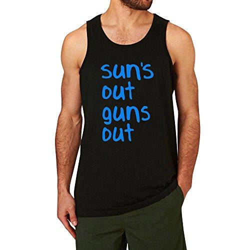 Mens Sun's Out Guns Out 22 Jump Street Workout Leisure Tank Tops Men Black