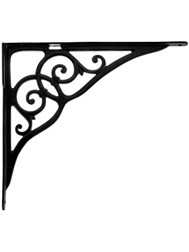 House of Antique Hardware R-010SE-0700015 Extra Large Iron''Sink'' Bracket - 15 5/8'' x 17 3/4'' in Matte Black by House of Antique Hardware, Inc.