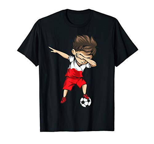 Dabbing Soccer Boy Poland Jersey Shirt - Polish Football ()