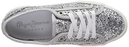 Pepe Jeans Aberlady Glitter Party - Zapatillas Mujer Plateado - Silber (934SILVER)