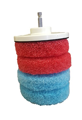 Bring It On Scrubbing Drill Pads, Clean Tile and Grout, Sinks, Tubs, Fiberglass Showers, Clean Shower Doors (Fiberglass Drill Bit compare prices)
