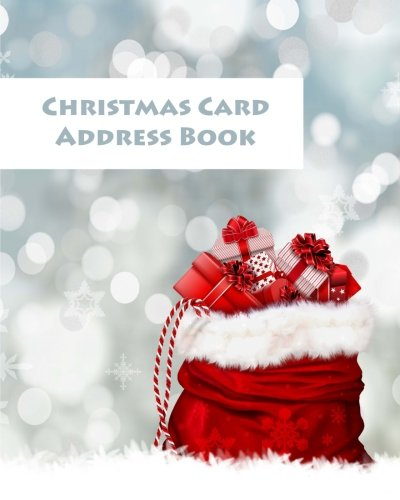 Christmas Card Address Book: Organise and remember your christmas cards | Christmas notebook | Address book | Large pages:10