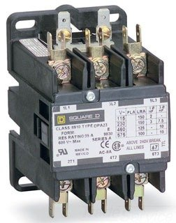 SCHNEIDER ELECTRIC 8910DPA73V02 Contactor 600-Vac 75-Amp Dpa Plus Options Electrical Box