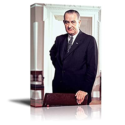 Created By a Professional Artist, Gorgeous Work of Art, Portrait of Lyndon B Johnson (36th President of The United States) American Presidents Series